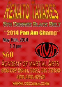 Come Train with the 2014 Pan-Am Champ!!!!